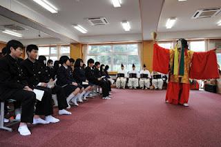 鹿島中学校神能奉仕�